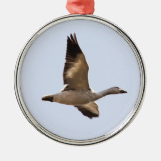 Snow Goose Metal Ornament