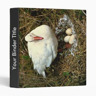 Snow Goose on Nest Binder