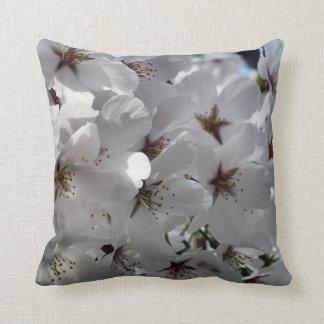 Snow Goose Ornamental Japanese Cherry Pillow