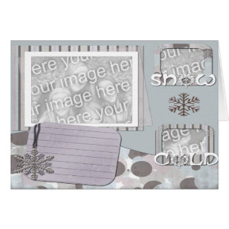 SNOW GREETING PHOTO CARD