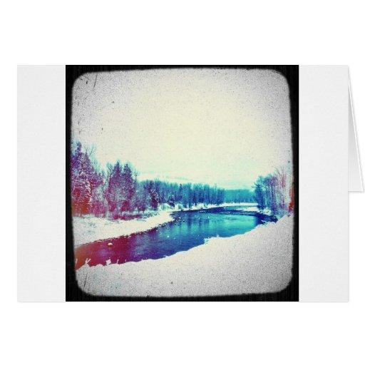 Snow H2O Greeting Card
