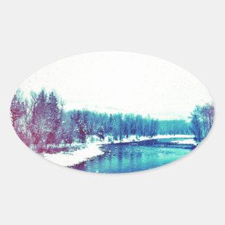 Snow H2O Oval Sticker