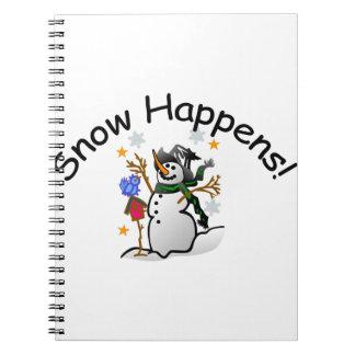 Snow Happens Notebook