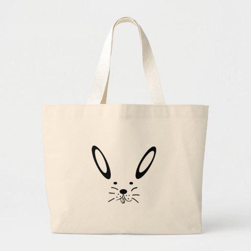 Snow hare/Easter bunny Jumbo Tote Bag