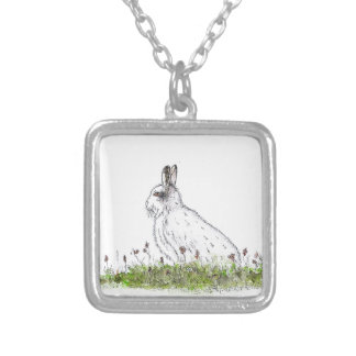 Snow Hare Silver Plated Necklace