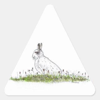 Snow Hare Triangle Sticker
