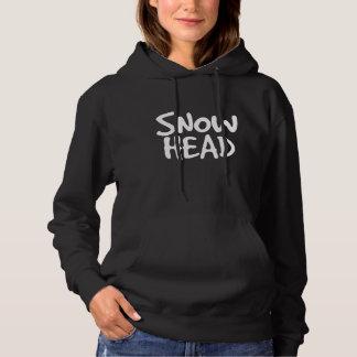 snow head hoodie