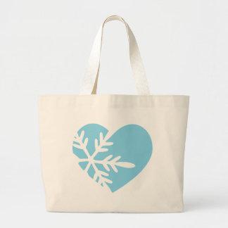Snow Heart Canvas Bag