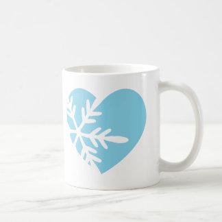 Snow Heart Coffee Mugs