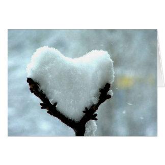 Snow Heart - Customized Card