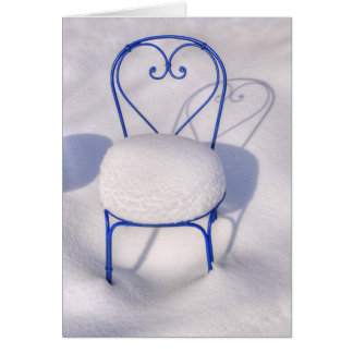 Snow Heart Greeting Card