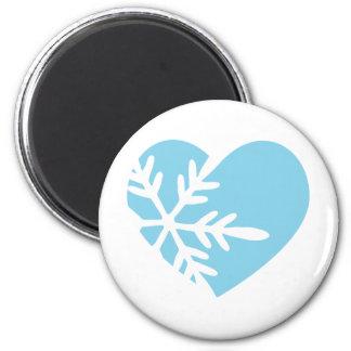 Snow Heart Magnet