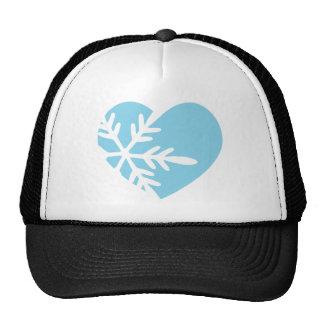 Snow Heart Trucker Hat