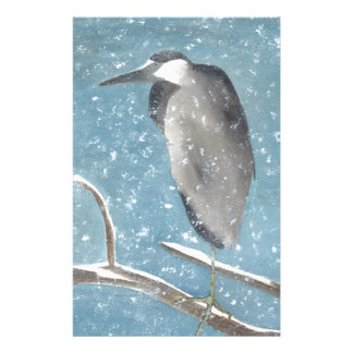 Snow Heron Stationery