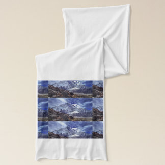 SNOW HIMALIAN MOUNTAINS ;  CHINA CHINESE SCARF