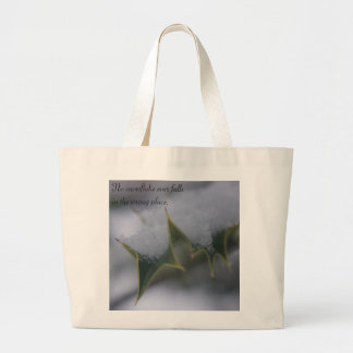 Snow Holly - Quote Canvas Bags