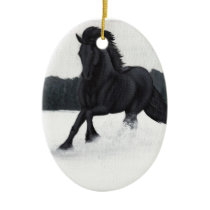 Snow Horse Collection Ceramic Ornament