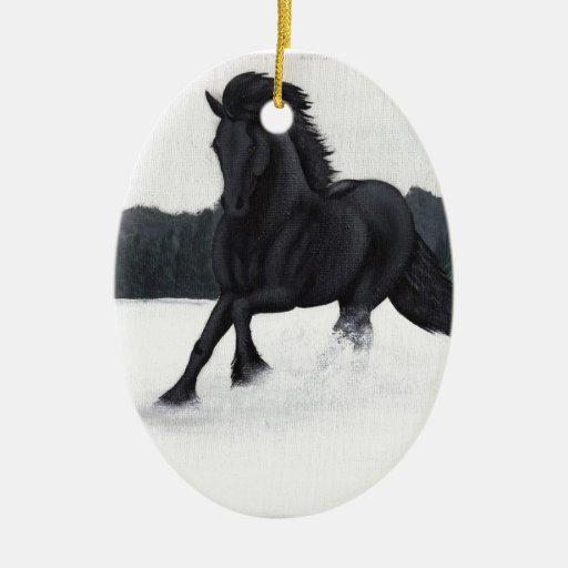 Snow Horse Collection Christmas Tree Ornaments