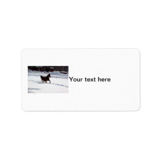 Snow Horse Label