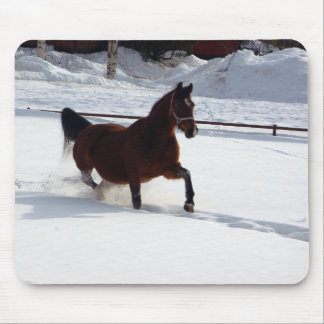 Snow Horse Mouse Pad