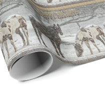 Snow Horses Christmas Wrapping Paper