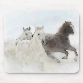 Snow Horses - mouse pad