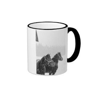 Snow Horses Ringer Mug