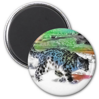 Snow Hunter 2 2 Inch Round Magnet
