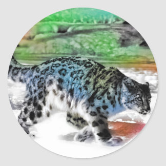 Snow Hunter 2 Classic Round Sticker