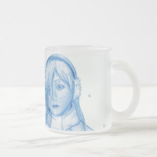 """""""Snow & Ice"""" Frosted Glass Mug"""