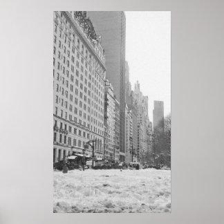 Snow in Central Park Print
