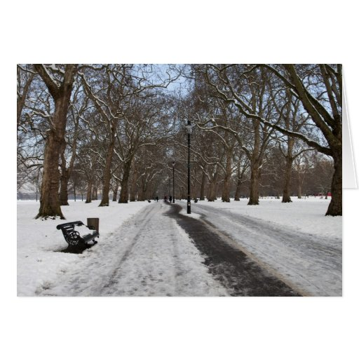 Snow in Hyde Park Greeting Card