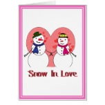 Snow In Love Greeting Card