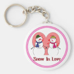 Snow In Love Key Chain