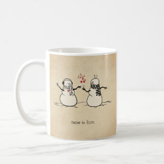Snow in Love - love note Coffee Mug