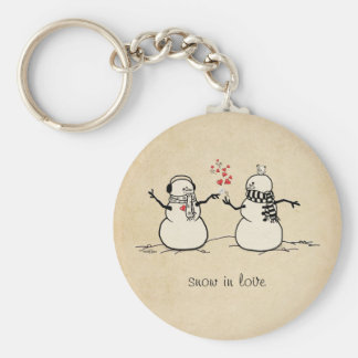 Snow in Love - love note Keychain