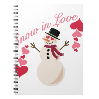 Snow In Love Spiral Note Books