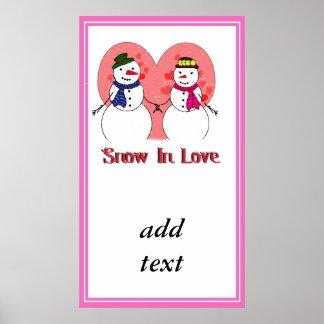 Snow In Love Print