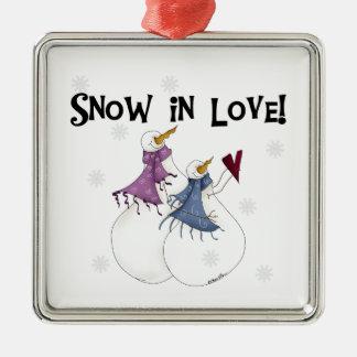 Snow in Love Snowmen  Keepsake Ornament