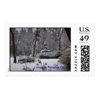 Snow in paradise, snow in Paradise Ca Postage Stamp