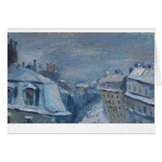 Snow in Paris Card