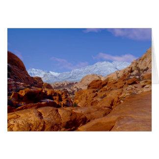 Snow in Red Rock Canyon, Las Vegas NV Blank Inside Card