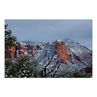 Snow in Sedona Arizona 2812 Print