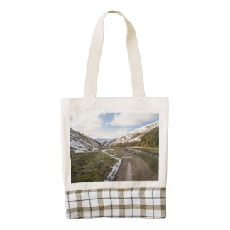 Snow In Swaledale Zazzle HEART Tote Bag