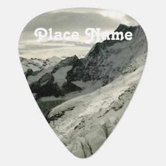 Snow in Switzerland Guitar Pick