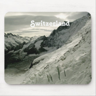 Snow in Switzerland Mouse Pad