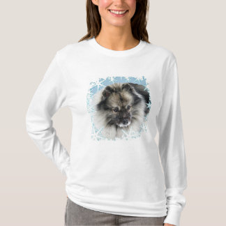 Snow in the Face Keeshond T shirt