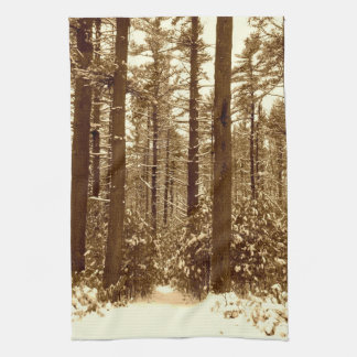Snow in the Forest Towels