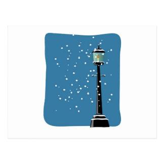 Snow in the Lamplight Postcard