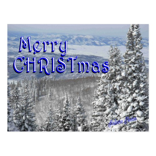 Snow in the Mountains-customize Postcard